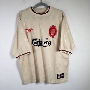 "Liverpool FC 96/97 Away Kit Jersey Mens size 46""/48"" Aus 2XL Reebok VINTAGE"