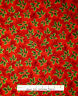 Christmas Fabric - Green Holly Leaves Gold Red RJR 1988 Holiday Accents - Yard