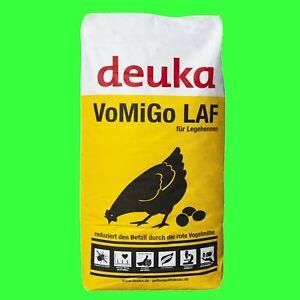 Deuka VoMiGo Legemehl 25kg Legehennen Alleinfutter wirkt gegen rote Vogelmilbe.