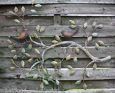 décoration murale sculpture Cintres Métal oiseau sur la branche feuilles mur