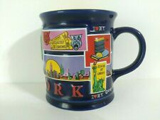 New York City Embossed Coffee Mug Twin Towers Empire State Building Taxis 2002