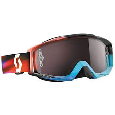 SCOTT TYRANT SPEED BLUE RED with SILVER MIRROR CHROME WORKS GENUINE MIRROR LENS