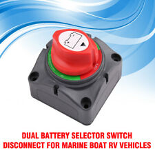 Dual Battery Selector Switch for Marine Boat Rv Vehicles 1-2-Both-Off
