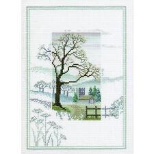 Derwentwater Designs Misty Mornings Cross Stitch Kit - Winter Tree