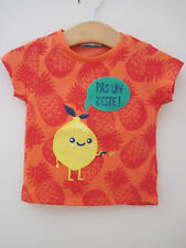 DP...AM FRANCE FRENCH LEMON PINEAPPLE T-SHIRT TOP BABY BOY OR GIRL age 6 months