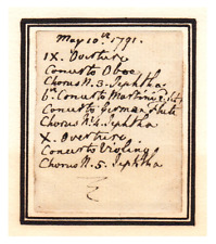 Autograph Manuscript Handwritten by King George III - re/ His Son's Wedding