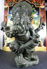 OLD VINTAGE LARGE GANESH GANESHA BRONZE STATUE. 15.5 inches tall.