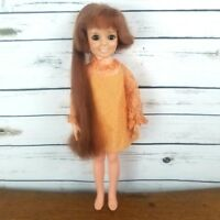 Crissy Doll Hair Grows Ideal 1969 Vintage Original Dress No Shoes Red Hair