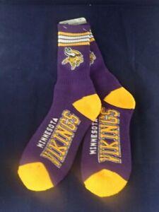 Minnesota Vikings FBF ORIGINALS Full Length Socks (LARGE SIZE 10-13)BRAND NEW