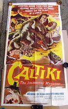 CALTIKI,  Movie Poster 3 Sheet.  1960