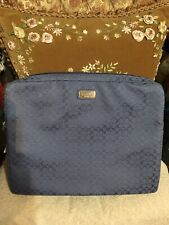 COACH Periwinkle Blue Padded IPad Tablet Zip Case Sleeve NWT Laptop Sleeve