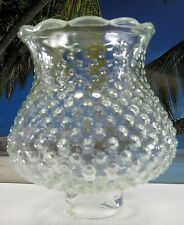 CHIMNEY OLD SHORT HOBNAIL CLEAR GLASS FOR OIL KEROSENE OR ELECTRIC LAMPS