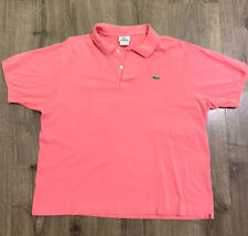 Mens Lacoste Sz.7 USA XXL Pink Polo Cotton  Shirt