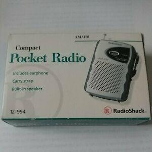 Radio Shack Portable Compact Pocket Radio- Model 12-994-AM/FM-new