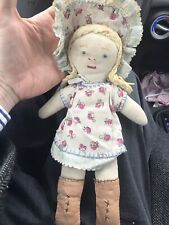 Handmade / quilted Stitched 1940s Sunbonnet Sue Doll 12�