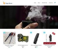 Established Vape Turnkey Website BUSINESS For Sale - Profitable DropShipping