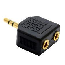 Stereo 3.5mm 1 Male Plug to 2 Female Jack Audio Y Splitter Headphone Adapter