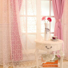 Soft Lace Voile Curtain Panel Embroidery Floral Tulle Window Drape Sheer Retro