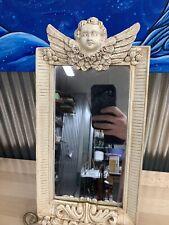 Vintage Style mirror White frame with Cherubs