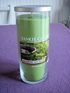 Yankee Candle Meadow Showers 20 Oz Large Pillar Candle NEW