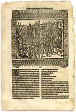 Rare Antique Print-CHARLES THE BOLD-SIEGE-AMIENS-FRANCE-Doppere-Vorsterman-1531