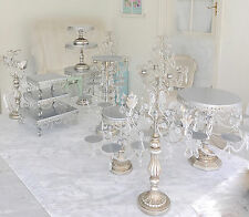 French Chic Silver Candle Holder Candelabra Decoration Wedding Christmas Display