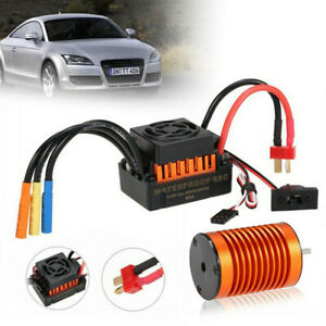 9T 4370KV Metal Brushless Motor+60A ESC Card Combo Car Kit For 1/10 RC Car Truck