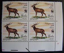 1991  Italia quartina  Salvaguardia della Natura Cervo Sardo 500 lire  MNh**