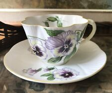 Vintage Shelley Fine Bone China Tea Cup, Pansy, Made In England