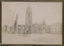 France, Ruines d'une Église, ca.1900, Vintage citrate print Vintage citrate