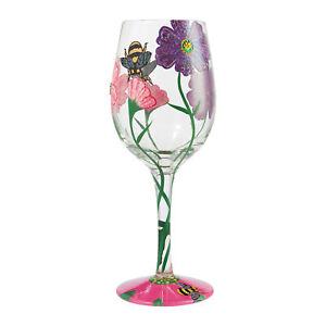 Enesco Designs by Lolita My Drinking Garden Hand-Painted Artisan Wine Glass