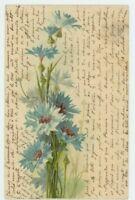 C. Klein, Flowers, Cornflowers Early Chromo Art Postcard, B940
