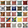 18'' Bohemia cotton linen pillow case cover sofa waist cushion cover Home Decor