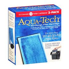 x3 AQUA-TECH 20-40 30-60 EZ-Change FILTER CARTRIDGE #3 Aquarium Carbon NiB NEW