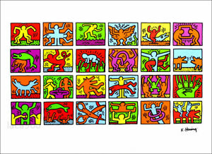 Keith HARING Retrospective 1989 Haring Foundation Poster Print 19-1/2 x 27-1/2