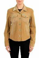Calvin Klein Jeans Brown Button Down Women's Corduroy Jacket US M IT 42
