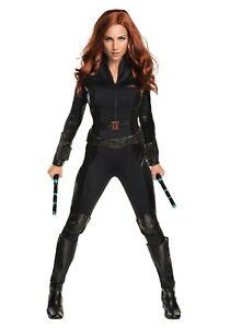 Women's Deluxe Civil War Black Widow Avengers Costume SIZE MEIDUM (with defect)