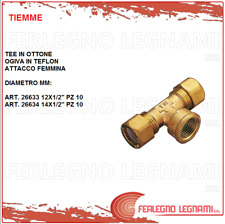 Tee Brass 2 Bicones Ogive in Teflon Base Female/Gas