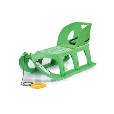 Schlitten Kinderschlitten Lehne Rückenlehne Set grün