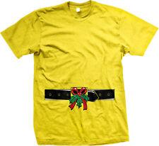 Mistletoe Belt Christmas Funny Flirty Festive Seasonal Humor Mens T-shirt