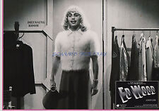 ED WOOD RARE GERMAN LOBBY PHOTO JOHNNY DEPP IN DRAG IN CASHMERE SWEATER!
