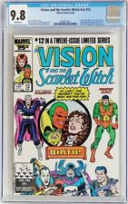 Vision and the Scarlet Witch v#2 #12 1986 CGC 9.8 NM/MT Birth of Tommy & Billy