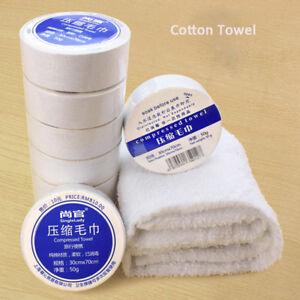 Magic Mini Compressed Towel Cotton Face Washcloth Travel Reusable Size S L