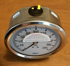 """New listing Wika 300Psi Glycerin Filled 4"""" Dial Gauge 1/2 Npt Lower Mount #4276770 - New"""