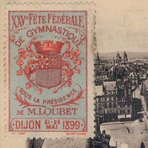 Frankreich Sport Vignette / Cinderella 1899 Fete Gymnastique Dijon