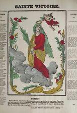 Imagerie populaire d'Epinal, SAINTE VICTOIRE, image religieuse, Georgin