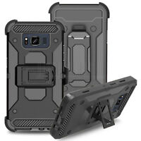 Rugged Hybrid Holster Case Hard Armor Stand Cover For Samsung Galaxy S8 Active