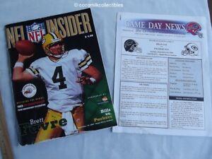 Sept 10 2000 Buffalo Bills vs Green Bay Packers Game Program Brett Favre Cover