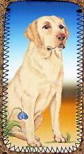 LABRADOR RETRIEVER GOLDEN DOG GLASSES CASE POUCH SANDRA COEN ARTIST PRINT