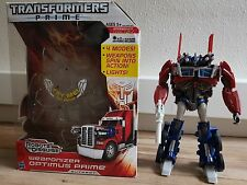 Used Transformers Prime Anime Weaponiser Optimus Prime Figure W/Box
